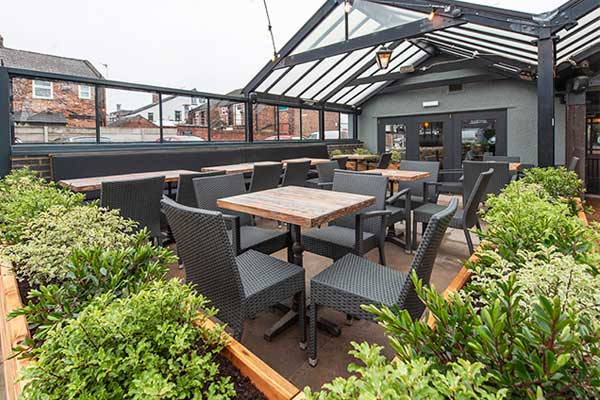Beer Garden in Ashton-on-Mersey, Sale, Altrincham